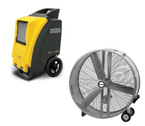 Fan and dehumidifier rentals in Chicagoland Suburban Area