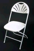 Rental store for Chair White Fanback folding in Bensenville IL